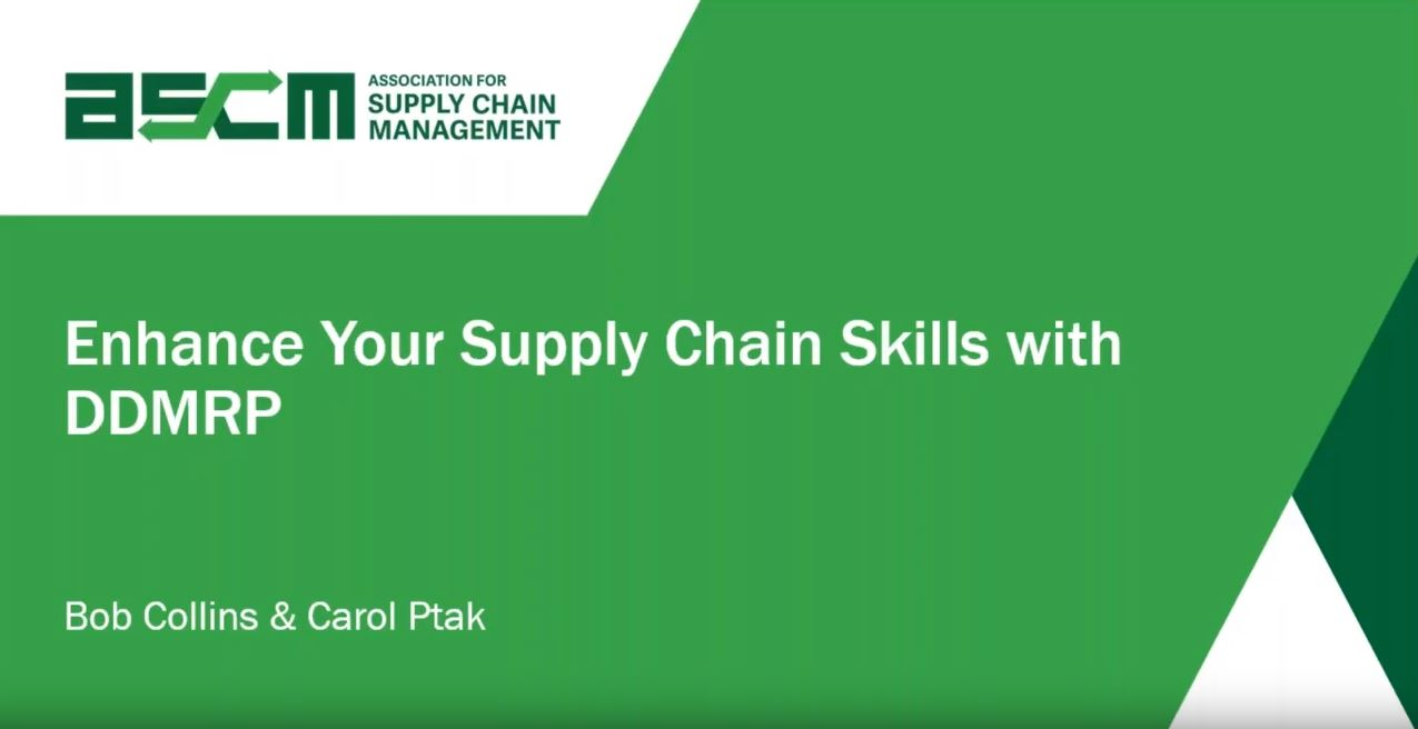 Enhance your supply chain skills with DDMRP